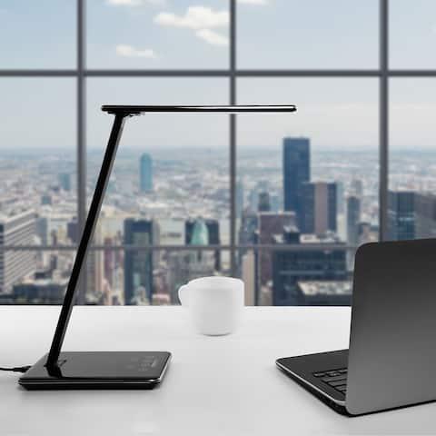 Kids Dimmable LED Desk Lamp, USB Port, 4 Lighting Modes, Piano Black