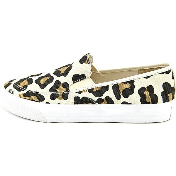 Coach Womens Maggie Ocelot Leather Low Top Slip On Fashion Sneakers