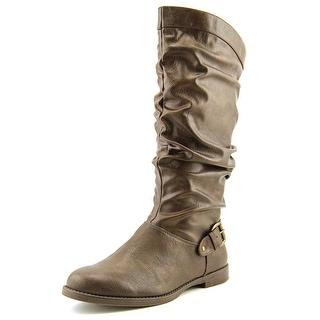 Easy Street Vigor Plus Women WW Round Toe Synthetic Brown Mid Calf Boot