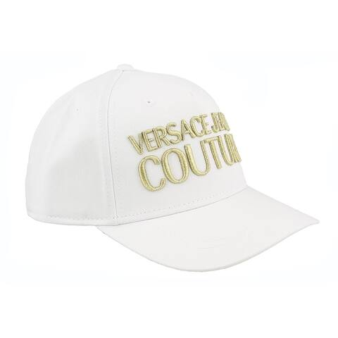 Versace Jeans Couture White 100% Cotton Mid Visor Cap - One Size