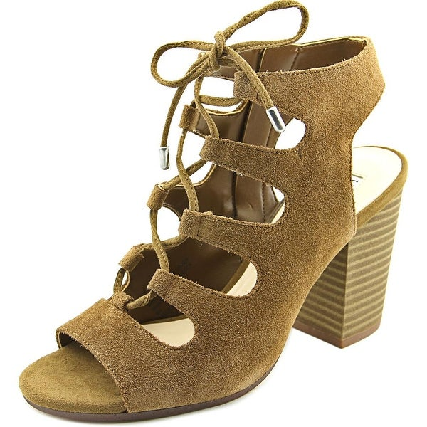 INC International Concepts Radka Women Open Toe Suede Brown Sandals