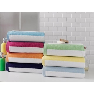 Link to Towels Beyond Cabana Stripe Beach Towel 530 GSM Luxury Turkish Cotton Similar Items in Towels