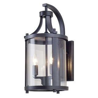 "DVI Lighting DVP4472 Niagara Outdoor 2 Light 14-3/4"" Tall Wall Sconce"