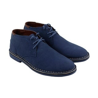 Kenneth Cole Reaction Desert Sun Mens Blue Suede Casual Dress Chukkas Shoes