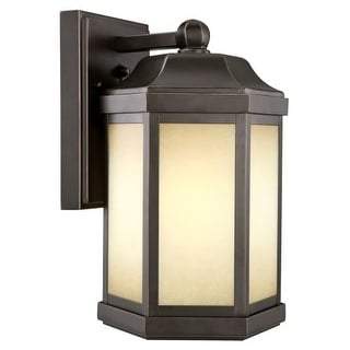Design House 514992 Single Light Down Light Outdoor Wall Sconce with Photocell from the Bennett Collection