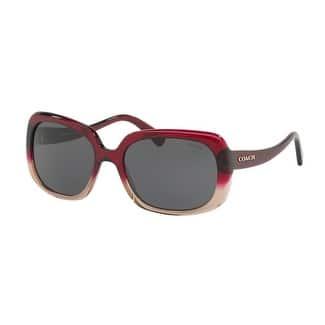 Coach Women's HC8178F 548487 57 Dark Grey Solid Plastic Rectangle Sunglasses