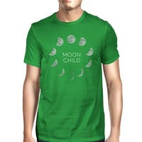 Moon Child T-Shirt Cotton Green Funny Halloween Tee Shirt For Men