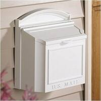 Whitehall 16139-WHITEHALL Wall Mounted Locking Mailbox Color: White