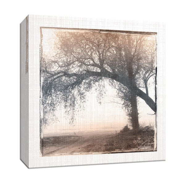 "PTM Images 9-147047 PTM Canvas Collection 12"" x 12"" - ""Foggy Light III"" Giclee Rural Roads & Paths Art Print on Canvas"