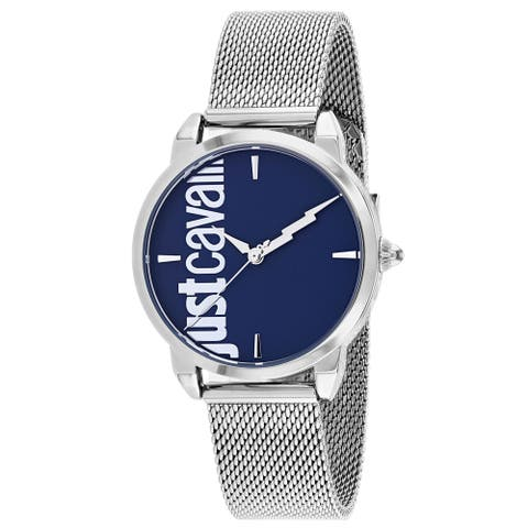 Just Cavalli Women's Tenue Blue Dial Watch - JC1L079M0045 - One Size