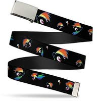 Blank Chrome Buckle Rainbow Dash Expressions Webbing Web Belt