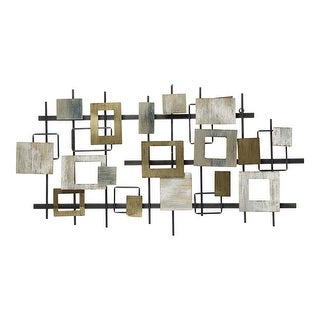 Link to Stratton Home Decor Wood and Metal Modern Shapes Wall Centerpiece - 43 X 2.50 X 22.64 Similar Items in Decorative Accessories