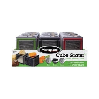 Microplane 47582 1.5 in. Cube Grater Assorted - pack of 9