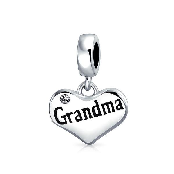 cd6d3b852 Shop BFF Grandmother Word Nana Engravable Heart Shape White Crystal Dangle Bead  Charm Sterling Silver Fit European Bracelet - On Sale - Free Shipping On ...