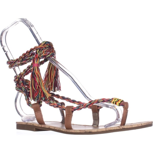 Circus by Sam Edelman Beth Flat Lace-up Sandals, Saddle