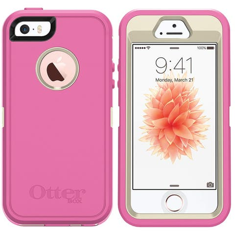 OtterBox Defender Series Case & Screen Protector (NO Holster) for iPhone SE, 5s & 5 - Non-Retail Packaging - Berries N Cream
