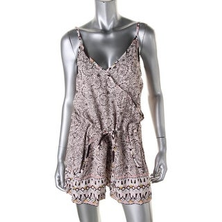 French Connection Womens Printed Spaghetti Straps Romper