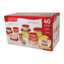 Rubbermaid 1777169 Food Storage Container Set, 40 Piece, Square