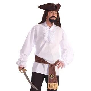Forum Novelties Ruffled Shirt Adult Costume - White - Standard