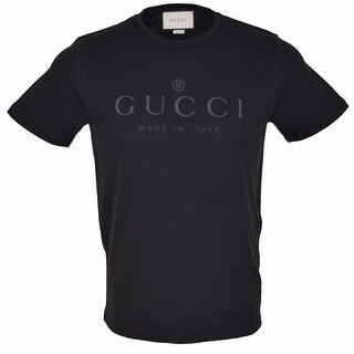 Gucci Men's 441685 Black Cotton Trademark Logo SLIM FIT T Shirt XL