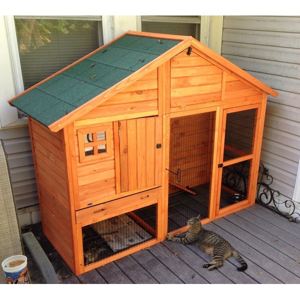 Shop TRIXIE Rabbit Hutch with Gabled Roof - Free Shipping
