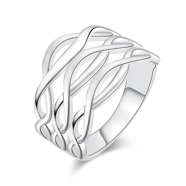 White Gold Horizontal Infused Ring