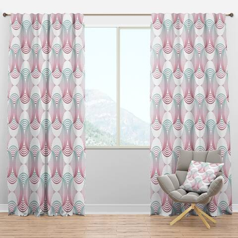 Designart 'Retro Geometrical Abstract Pattern I' Mid-Century Modern Blackout Curtain Panel