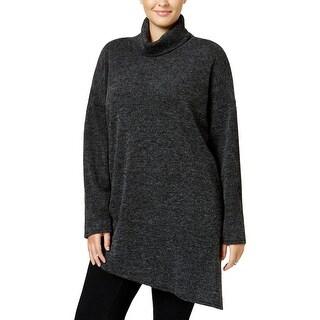 Rachel Rachel Roy Womens Plus Tunic Sweater Hi-Low Turtleneck