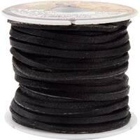 """Black - Latigo Lace .125""""X50' Spool"""