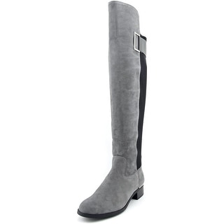 Calvin Klein Cylan Round Toe Leather Knee High Boot