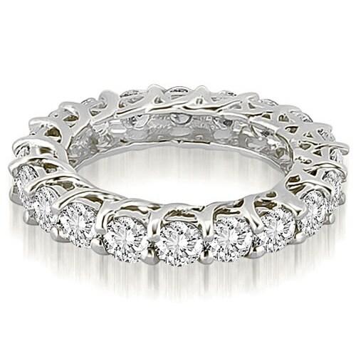 4.50 cttw. 14K White Gold Round Diamond Eternity Ring