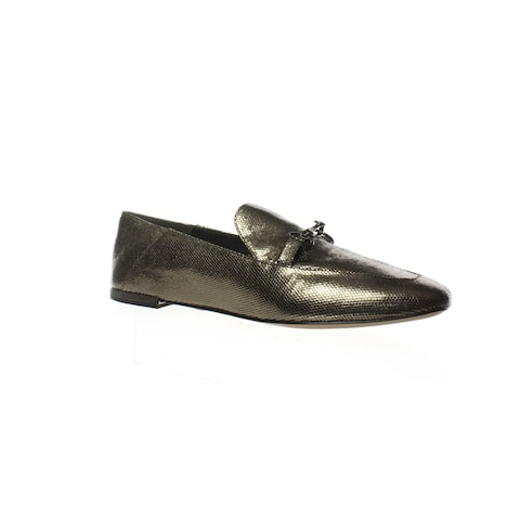 Donna Karan Womens Debz Pewter Loafers Size 8.5