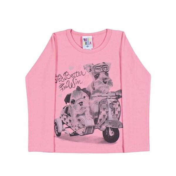 Toddler Girl Shirt Little Girl Long Sleeve Graphic Tee Pulla Bulla Size 1-3 Year