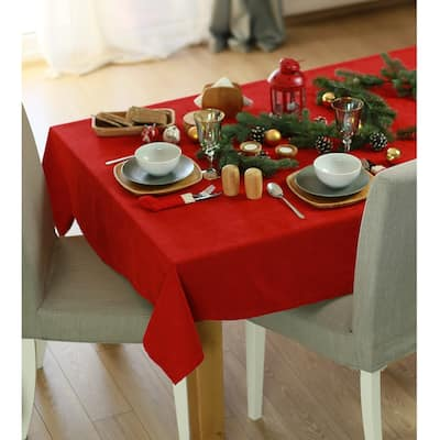 Merry Christmas Solid Decorative Tablecloth