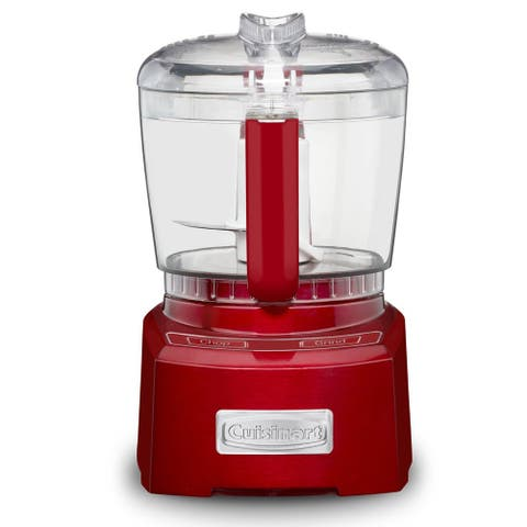 Cuisinart CH-4MRFR Elite Collection 4 Cup Chopper/Grinder, Red, Certified Refurbised