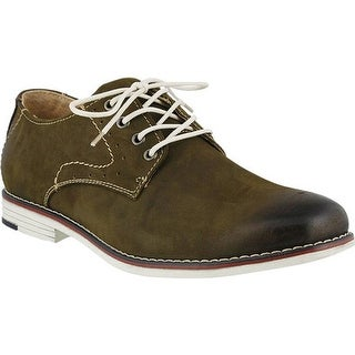 Spring Step Men's Montenegro Oxford Olive Nubuck Leather