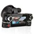 "Indigi® F600 Car DVR DashCam w/ Dual Rotating Cameras (Front+Rear) with 2.7"" LCD w/ Nightmode & Gravity Sensor - Black - Thumbnail 0"
