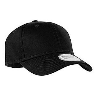New Era Adjustable Structured Cap, Black, OSFA