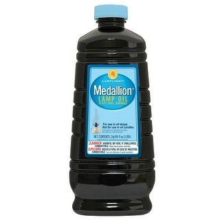 Lamplight 60003 Medallion Unscented Lamp Oil, 64 Oz, Clear