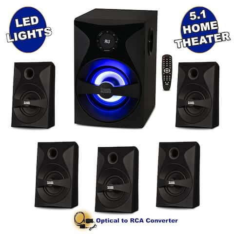 Acoustic Audio Bluetooth 5.1 Speaker System with Sub Light FM and Optical Input