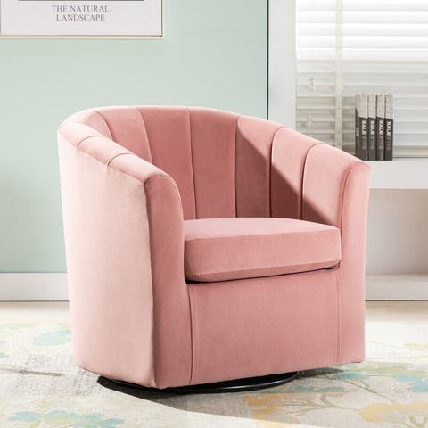 Layla Velvet Swivel Accent Chair By Archiology