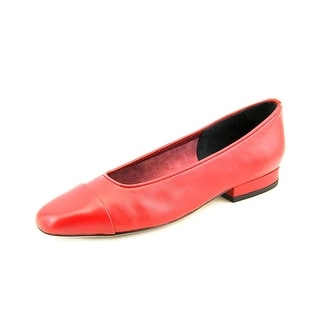 Vaneli Frankie WW Cap Toe Leather Flats