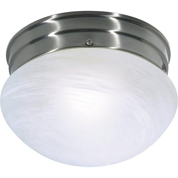 "Nuvo Lighting 76/671 1-Light 7-1/2"" Wide Flush Mount Bowl Ceiling Fixture - Brushed nickel"