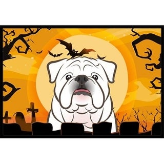 Carolines Treasures BB1778JMAT Halloween White English Bulldog Indoor & Outdoor Mat 24 x 36 in.