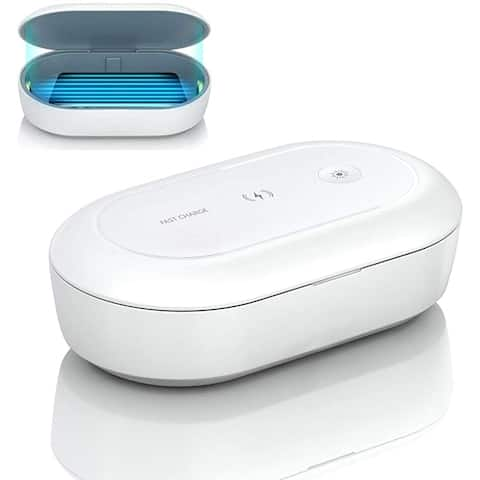 Portable UV , Multi-Function UV Light Sterilizer, UV Phone Cleaner Box with Wireless Charge