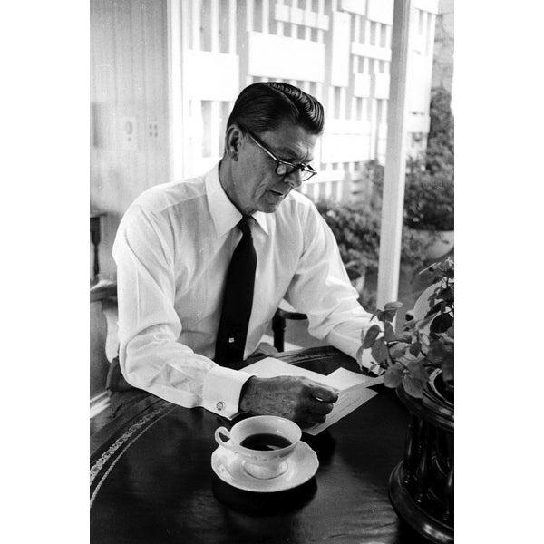 Shop Governor Ronald Reagan Reading Photo Print Free Shipping On