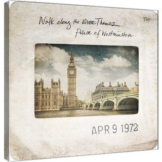 """PTM Images 9-101096  PTM Canvas Collection 12"""" x 12"""" - """"Slide of London A"""" Giclee London Art Print on Canvas"""