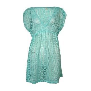 Miken Women's V-Neck Crochet Dress Swimsuit Cover