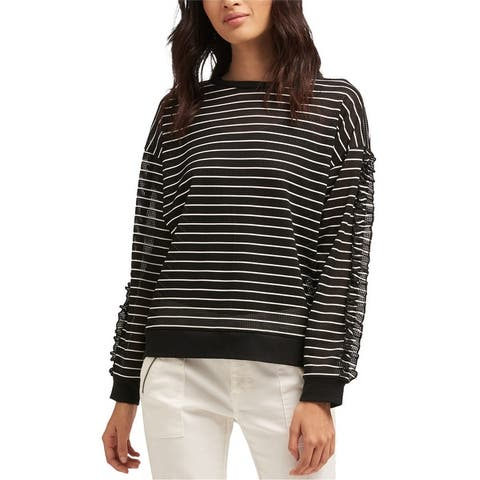 Dkny Womens Striped Pullover Blouse