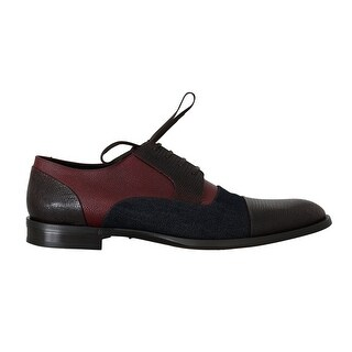 Dolce & Gabbana Brown Blue Red Leather Derby Shoes - eu45-us12